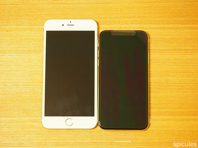iPhoneXと6Plus