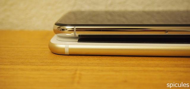 iPhoneの厚さ