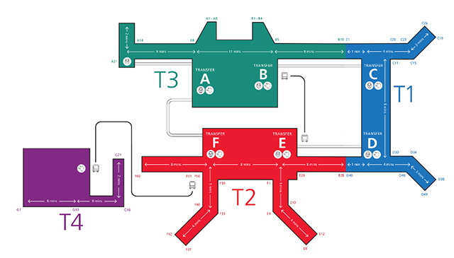 チャンギ空港マップ