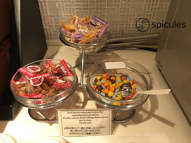 新千歳空港国際線ラウンジお菓子