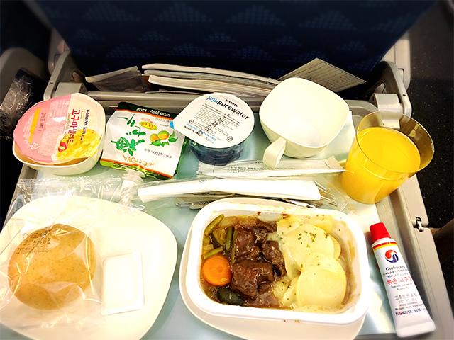 大韓航空機内食